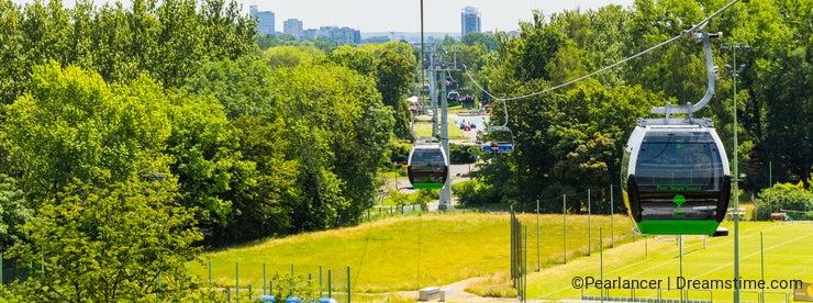 Ropeway in Silesian Park.