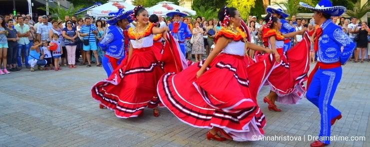Colorful street dance