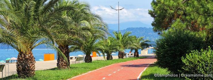 Green Boulevard near the beach
