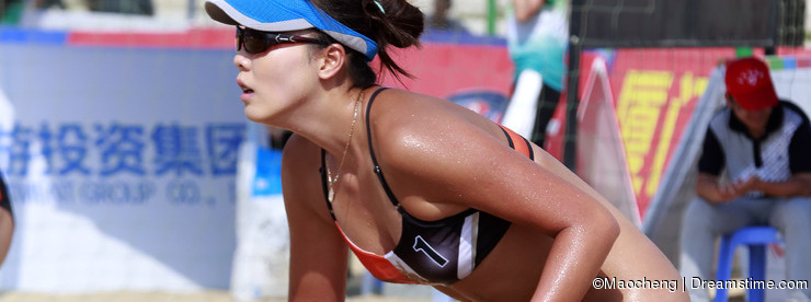 Beautiful female athlete chenchen