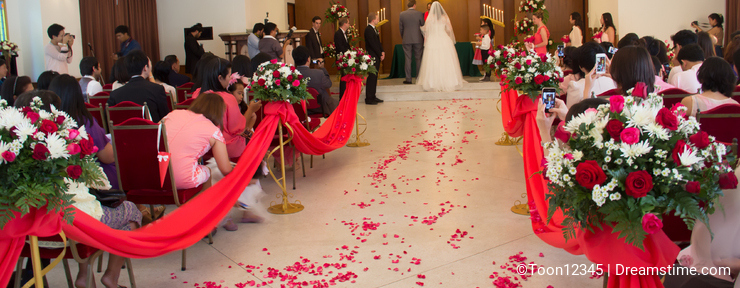 Wedding ceremony in the church