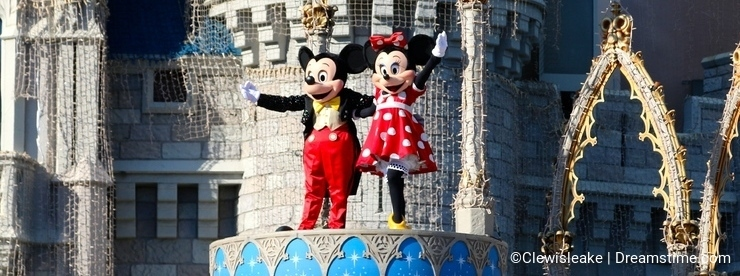 Mickey and Minnie Mouse On Stage at Disney World Orlando Florida