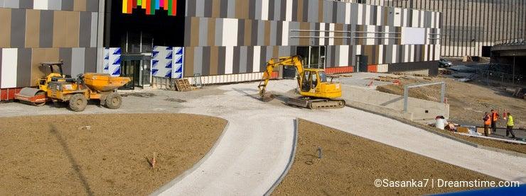 Mall under construction