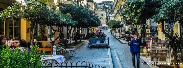 Sidewalk in Corfu