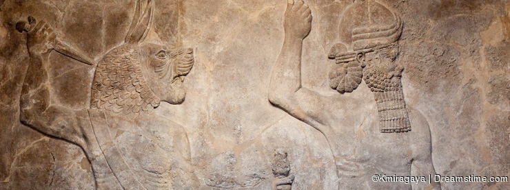 Old assyrian relief