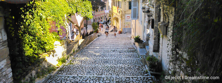 Path in Corfu old town