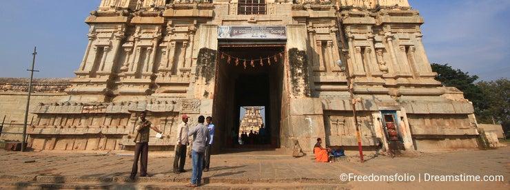 Historic Hampi Virupaksha Temple in India