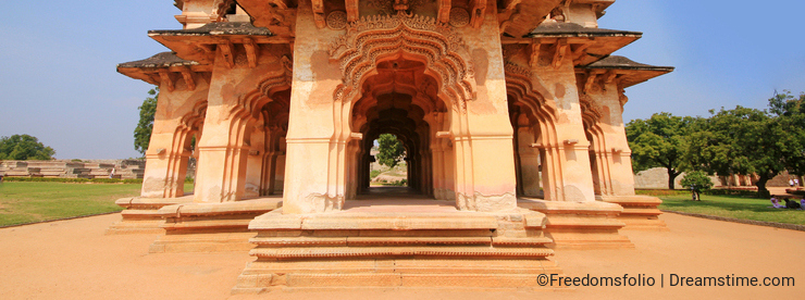 Historic Hampi lotus Mahal in India