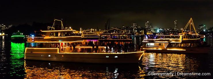 shining boats