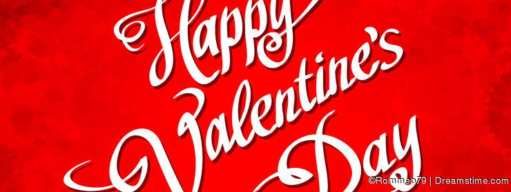HAPPY VALENTINES DAY hand lettering - handmade calligraphy, vector