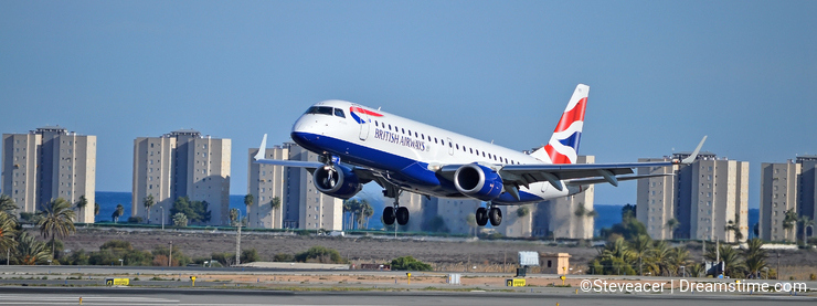 Airtravel - British Airways Flight landing In The Costa Blanca