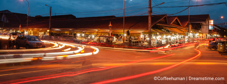 Night market Cambodia