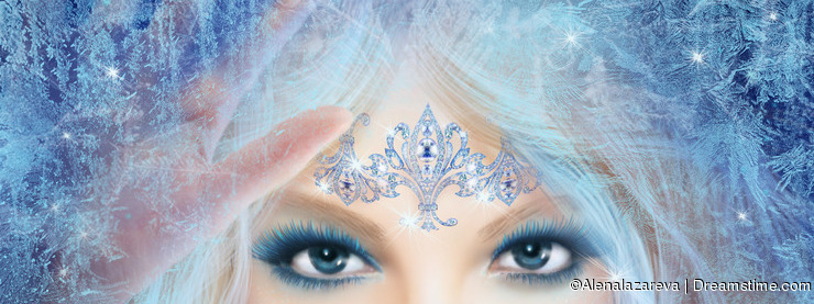 Fantasy Beautiful fairy woman Snow queen