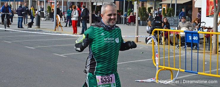 A Happy Marathon Runner