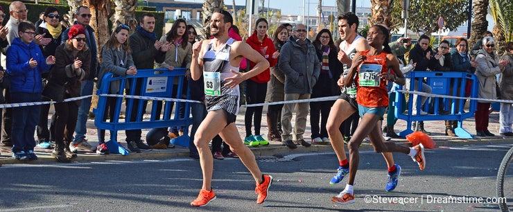 Woman Running Marathon Winner