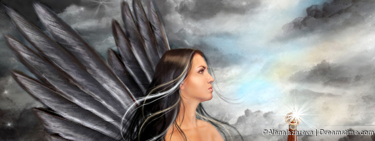 Fantasy Black angel