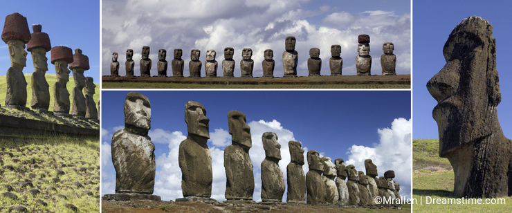 Moai of Easter Island - South Pacific