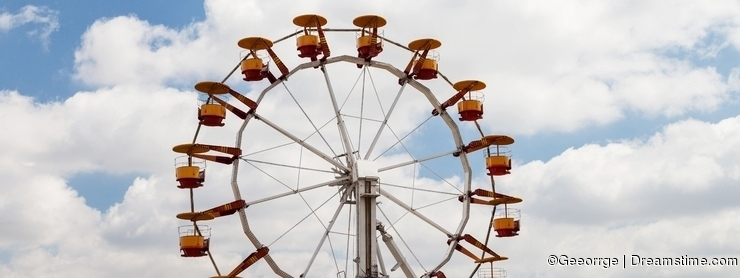 Big wheel located in park