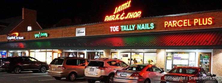 Sams Park & Shop at Night