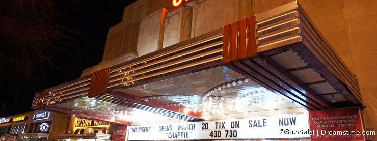 Uptown Movie Theatre at Night