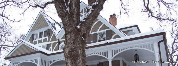 Victorian Home in Winter