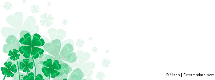 Background St. Patrick day with a symbol- green clover