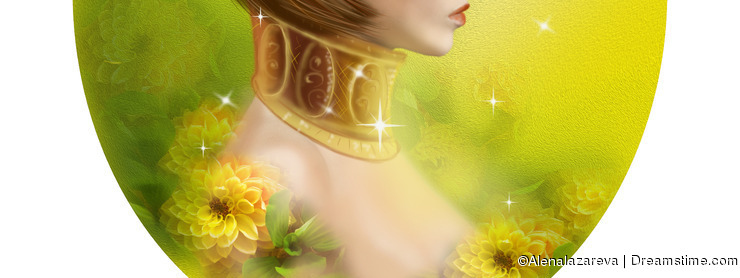 Horoscope Zodiac - Fantasy Taurus portret beautiful girl
