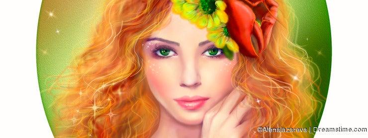 Horoscope Zodiac - Fantasy Cancer portret beautifulbn girl