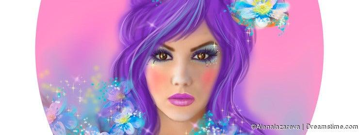 Horoscope Zodiac - Fantasy Libra portret beautifulbn girl