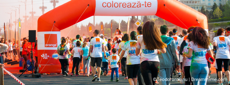 Orange color run