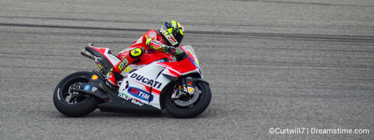 MotoGP rider Andrea Iannone Austin Texas 2015