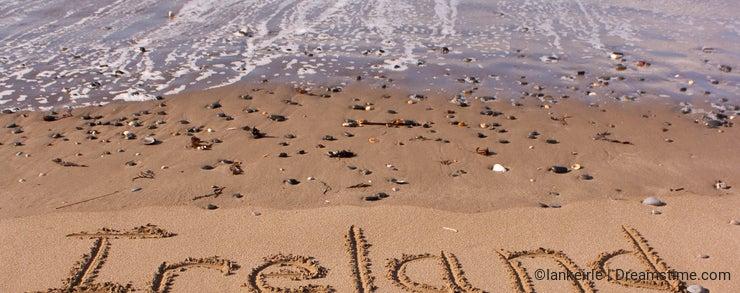 Ireland on beach