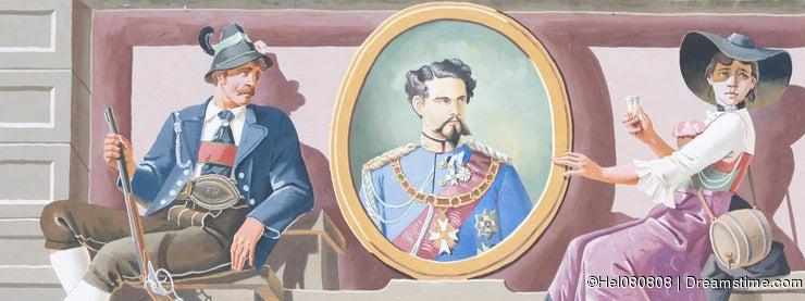 King Louis II Fresco on House, Bavaria