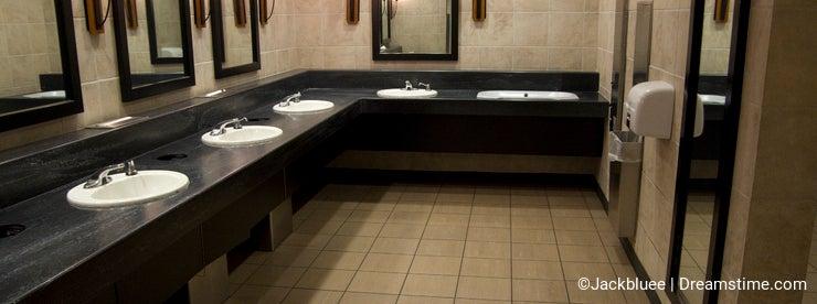 Elegant public bathroom