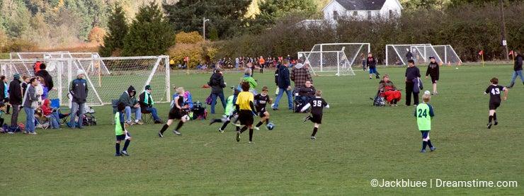 Kid's soccer match
