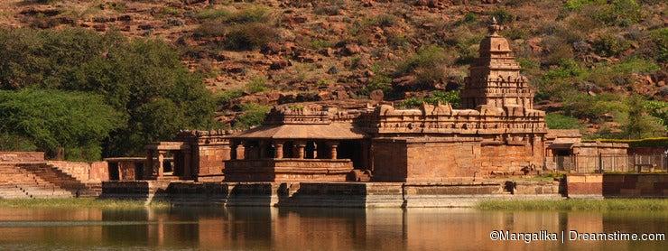 Travel shot of Badami water temple