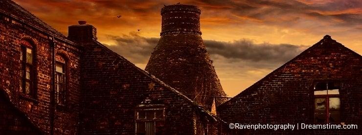 Sunset over Bottle Kilns