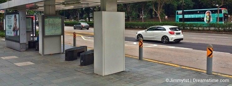 Bus stop -Singapore city