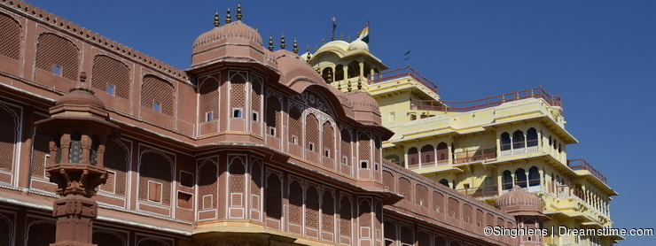 Fragment of Majestic City Palace in Jaipur Rajasthan India