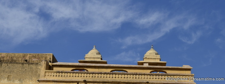 Fragment of Majestic Amer Fort in Jaipur Rajasthan India
