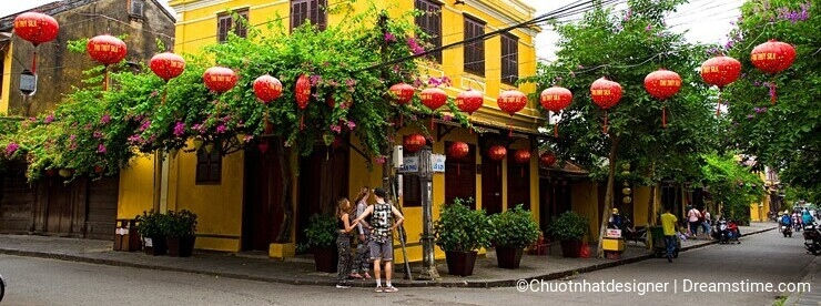 Hoi An Ancient Town in early morning sunshine, Quang Nam, Vietnam
