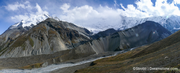 Annapurna Range panorama from Tilicho base camp, Nepal