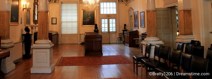 One of the main rooms inside The Writer's Museum, Dublin,Ireland,Fall,2014