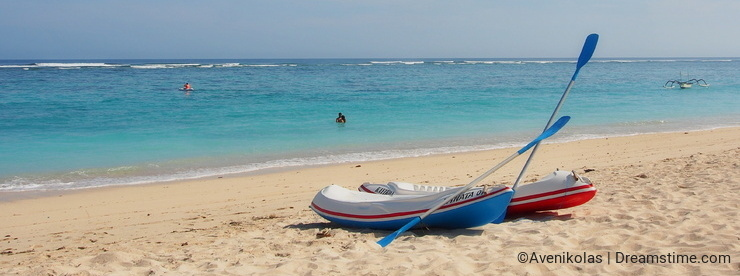 Two Canoes on the Beach