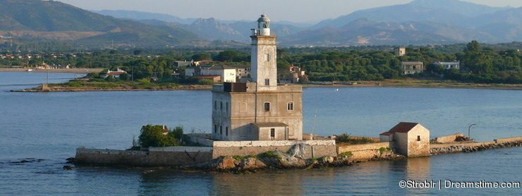 Beacon in Olbia harbour
