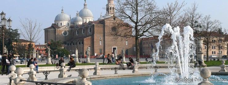 Prato della Valle, Basilica of Santa Giustina, Padova (Padua), Italy