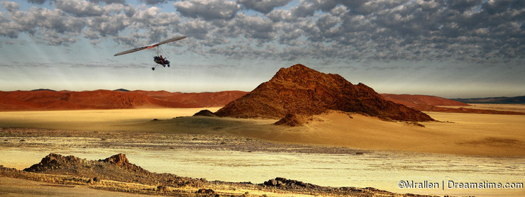 Namibia - Sossusvlei area - Aerial view from a Microlight