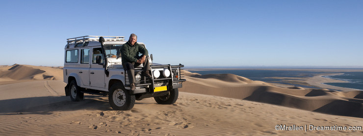 Tourism - Male senior in Namibia