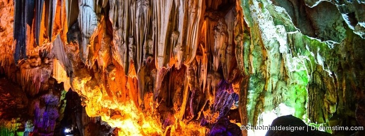 Thien Cung Cave in Ha Long Bay, Vietnam