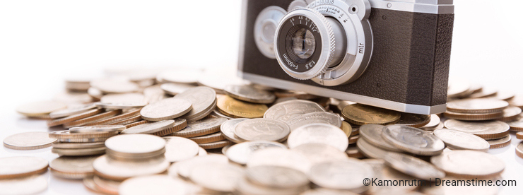 Conceptual photo for microstock photography, making money